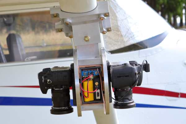 aircraft pod for two cameras